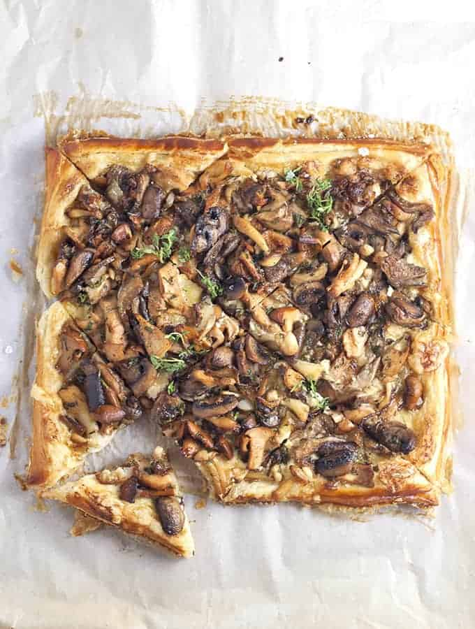 ... mushroom tart is one of my favorite ways to showcase these little