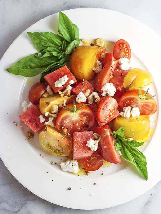 Heirloom Tomato, Watermelon & Chèvre Salad | Bijouxs | Little Jewels ...