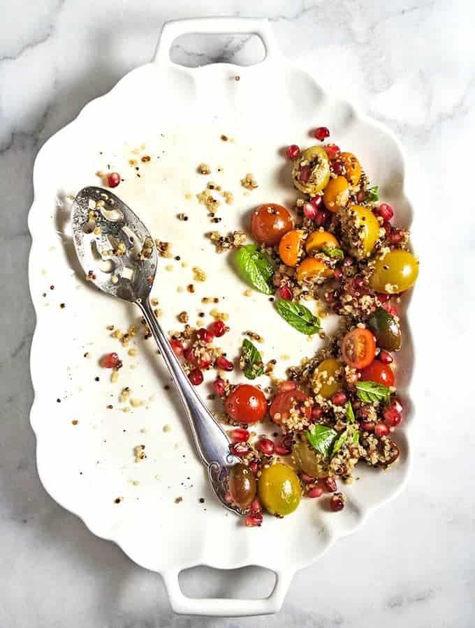 Tomato,Pomegranate & Quinoa Salad, Bijouxs