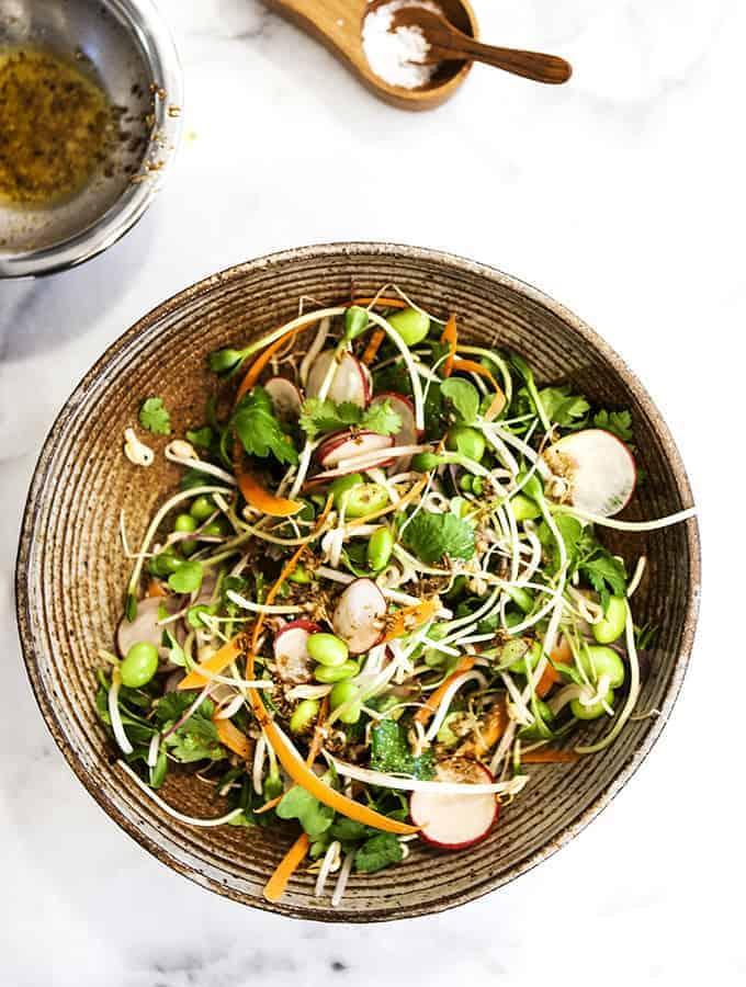 Radish & Sprout Salad  Bijouxs Little Jewels