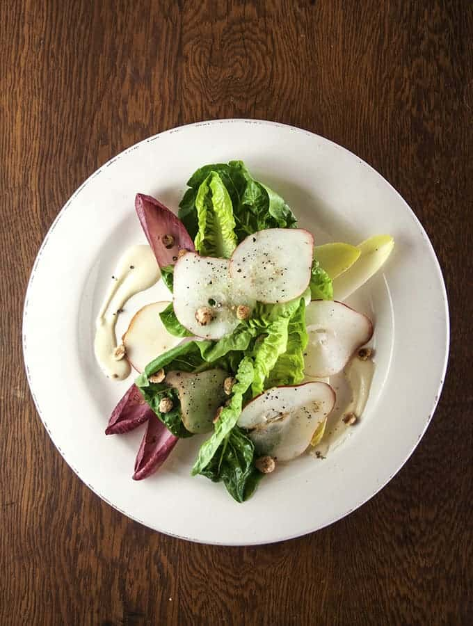 Pear & Endive Salad - Bijouxs Little Jewels
