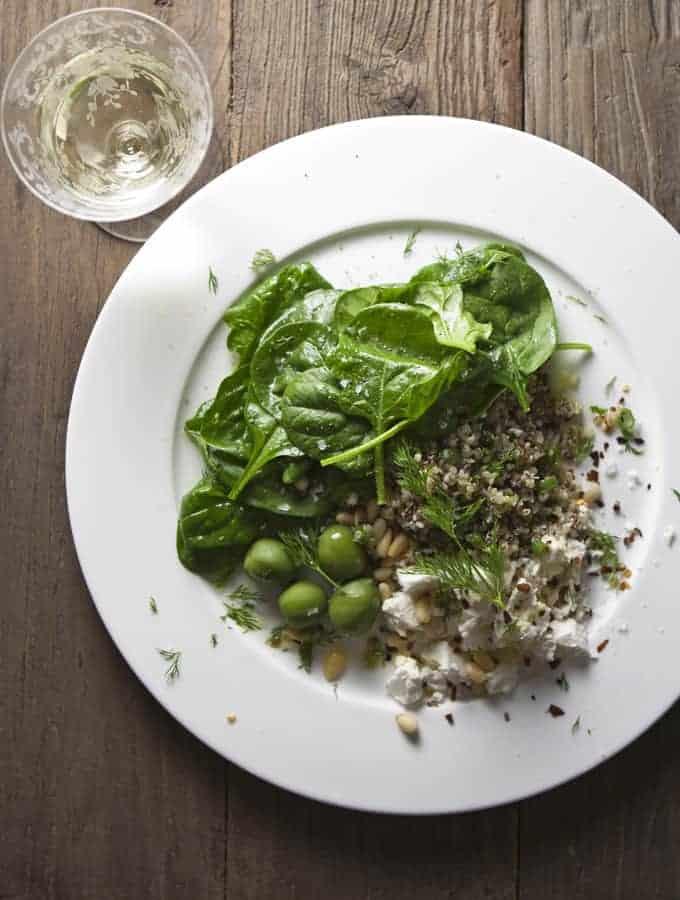 Spinach, Quinoa & Feta Salad | Bijouxs Little Jewels