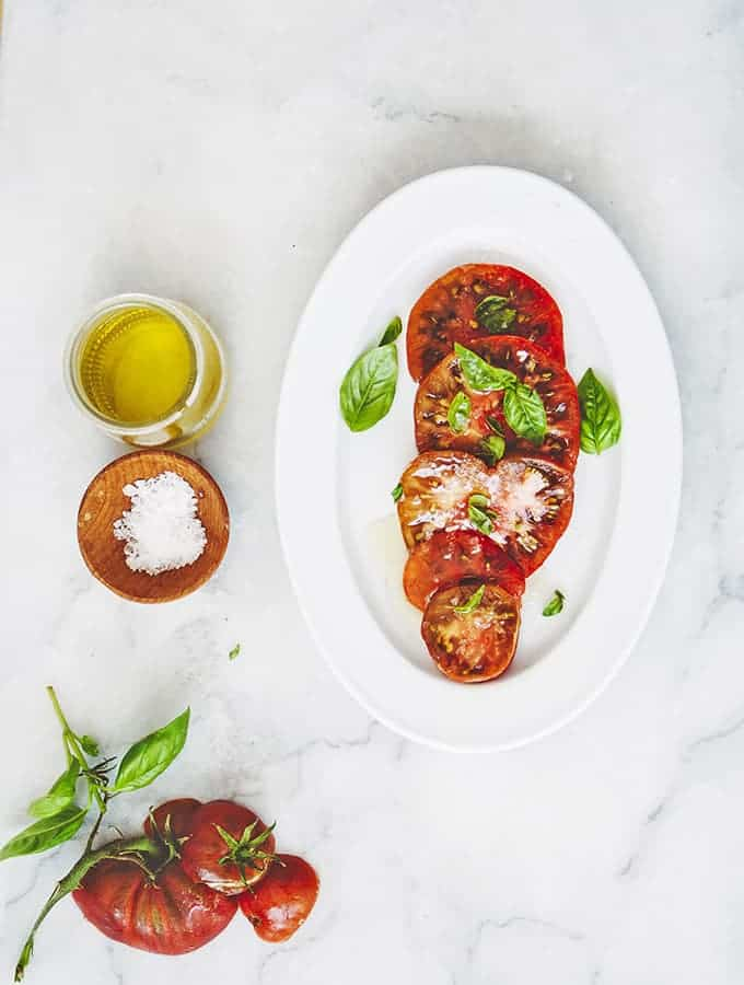 Bijouxs Little Jewels|Heirloom Tomatoes with Basil Oil