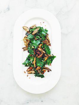 Wild Spinach & Roasted Mushrooms | Bijouxs Little Jewels
