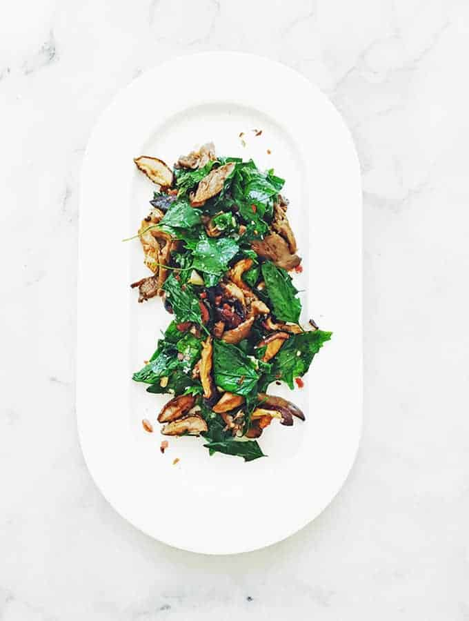 Wild Spinach & Roasted Mushrooms | Bijouxs Little Jewels
