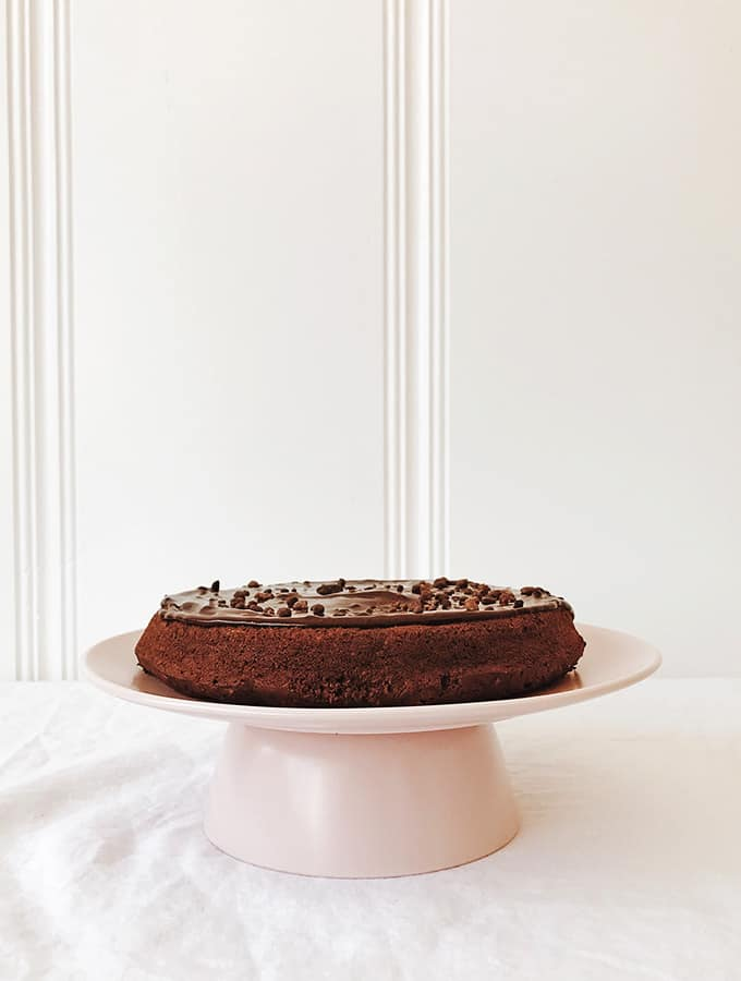 Bittersweet Chocolate Cake with Almonds, Raisins & Whiskey | Bijouxs Little Jewels