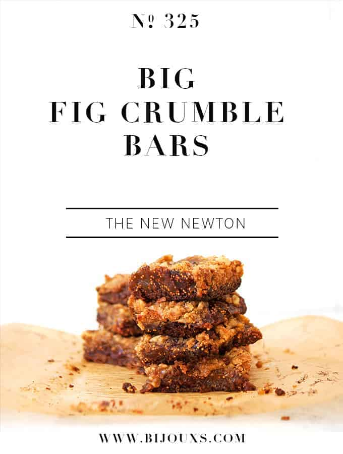 Big Fig Crumble Bars | Bijouxs Little Jewels