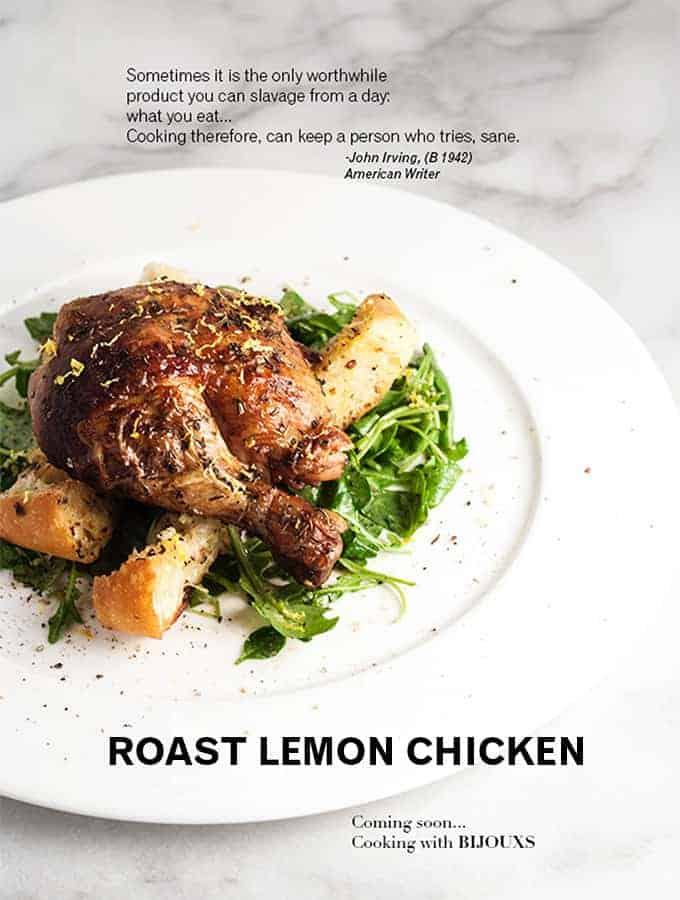 Roasted Lemon Chicken | Bijouxs Little Jewels