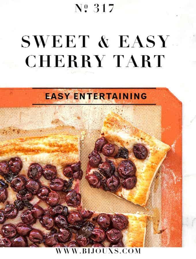 Sweet & Easy Cherry Tart |Bijouxs Little Jewels
