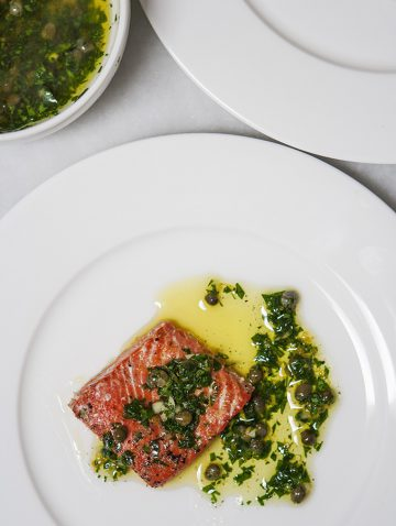 Slow Roasted Salmon with Salsa Verde | Bijouxs Little Jewels