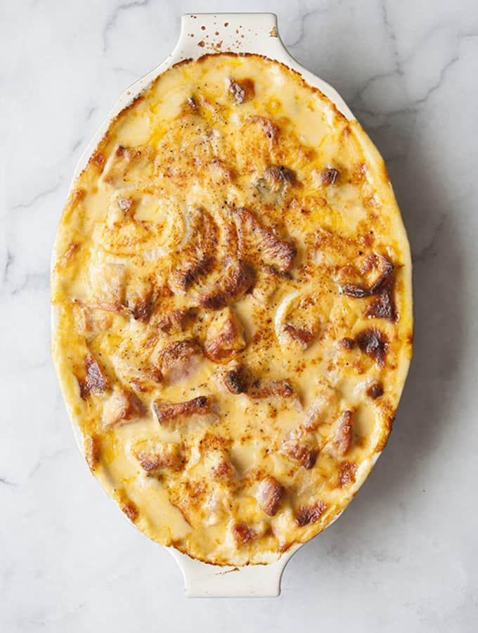 Cheddar Scalloped Potatoes & Ham | Bijouxs Little Jewels