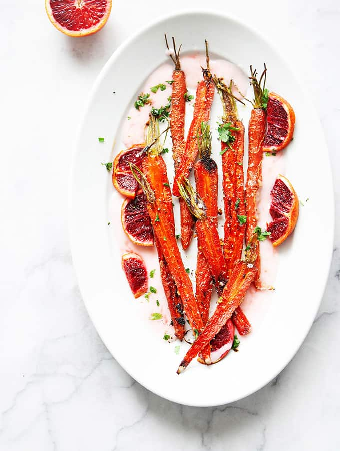 Roasted Carrots and Blood Oranges with Yogurt | Bijouxs Little Jewels