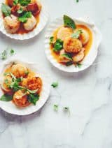 Pan Seared Scallops with Coconut Curry | Bijouxs Little Jewels