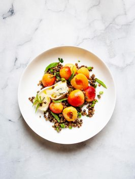 Summer Salad of Apricots, Lentils & Triple Cream Cheese | Little Kitchen Jewels