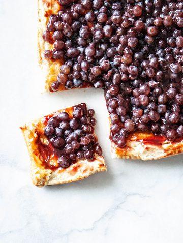 French Fresh Grape Tart | Bijouxs Little Jewels