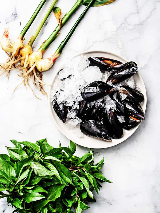Hope Ranch Mussels with Fresh Ginger & Thai Basil |Bijouxs Little Jewels
