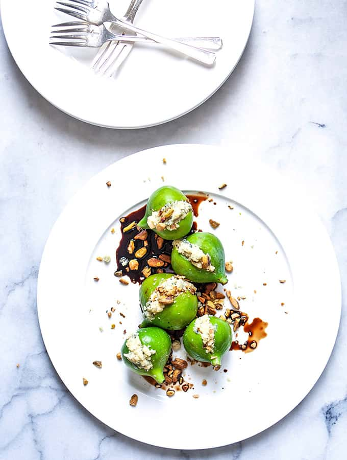 Figs with Stilton & Aged Balsamic