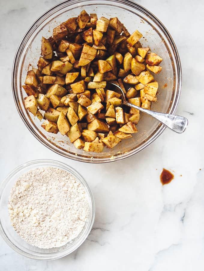 Brown Sugar Apple Crisp & Miso Caramel Sauce