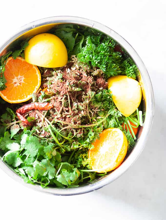 Wellness Turmeric Bone Broth with Ginger, Citrus & Herbs