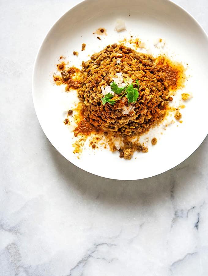 Spiced Lentils & Rice (Mejadra)