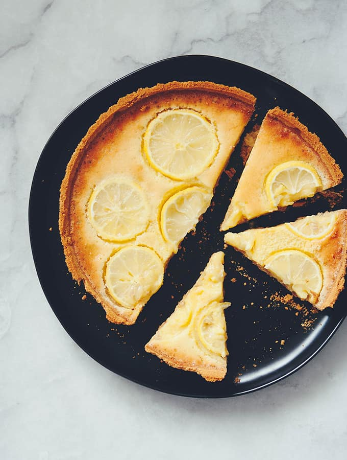 Rustic Lemon Marmalade Tart