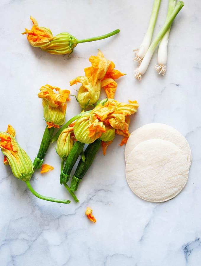Squash Blossom Tacos