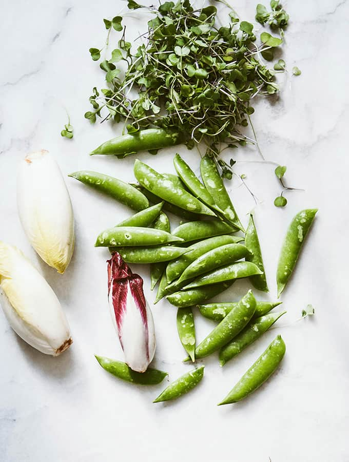 Sugar Snap Peas & Endive with Creamy Romano Dressing