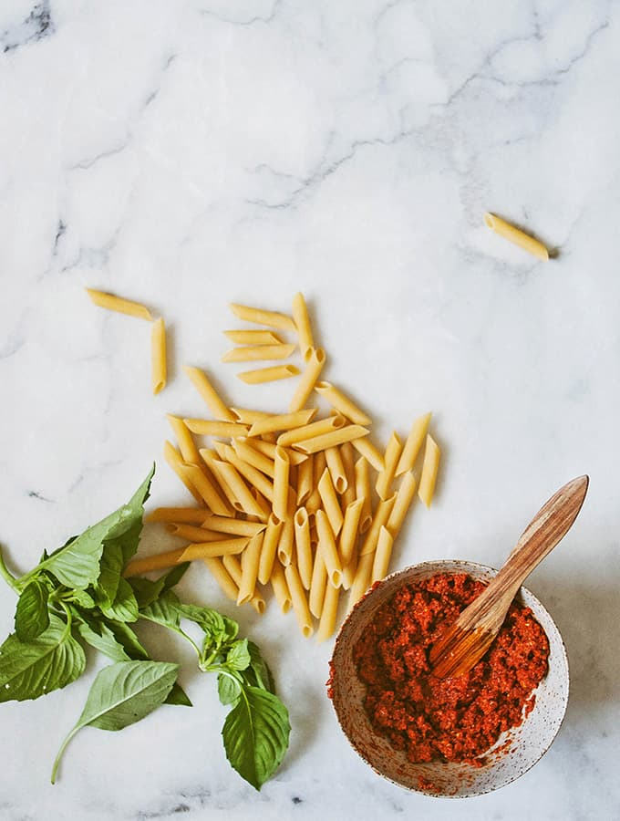 Penne with Sun Dried Tomato Pesto | Bijouxs Little Jewels