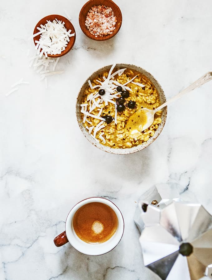 Overnight Oats with Turmeric & Chia |Bijouxs Little Jewels