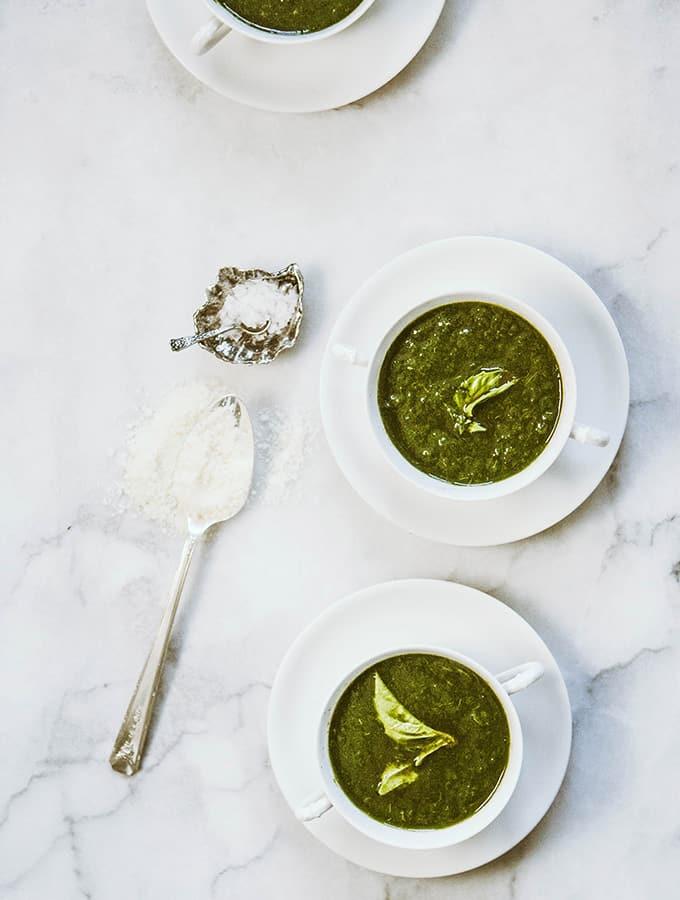 Spinach & Basil Soup |Bijouxs Little Jewels