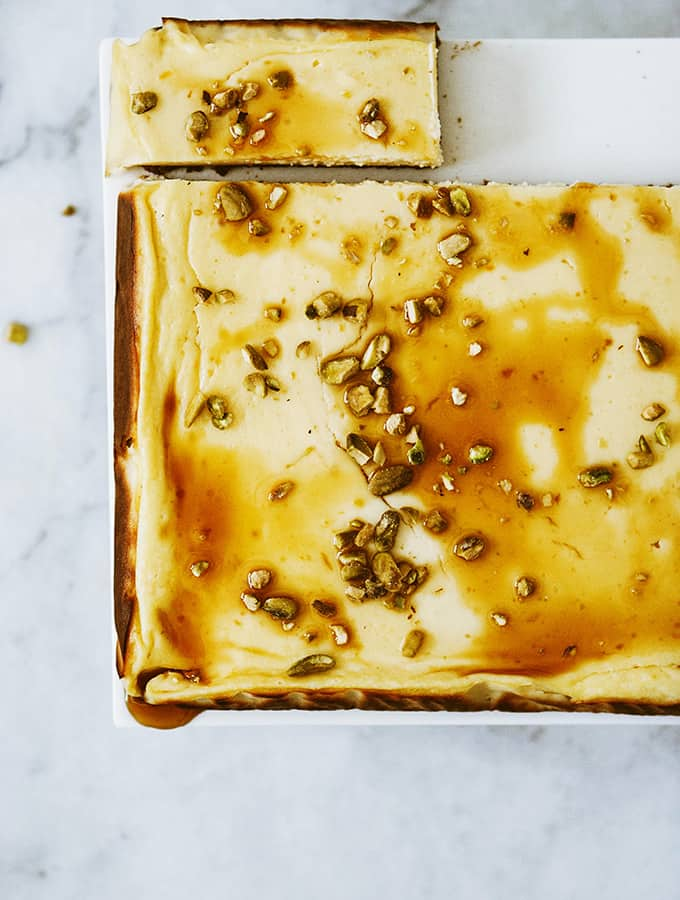 Labneh Cheesecake with Lavender Honey | Bijouxs Little Jewels