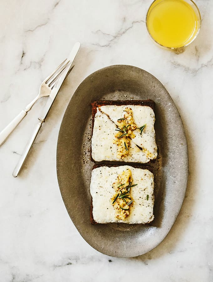 Brioche Toast with Goat Cheddar & Apple Mostarda |Bijouxs Little Jewels