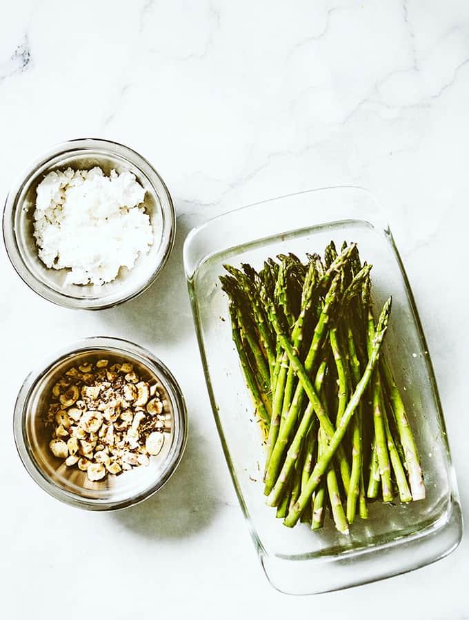 Roasted Asparagus with Feta & Hazelnuts | Bijouxs Little Jewels