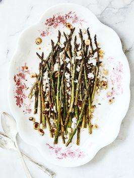 Roasted Asparagus with Feta & Hazelnuts |Bijouxs Little Jewels