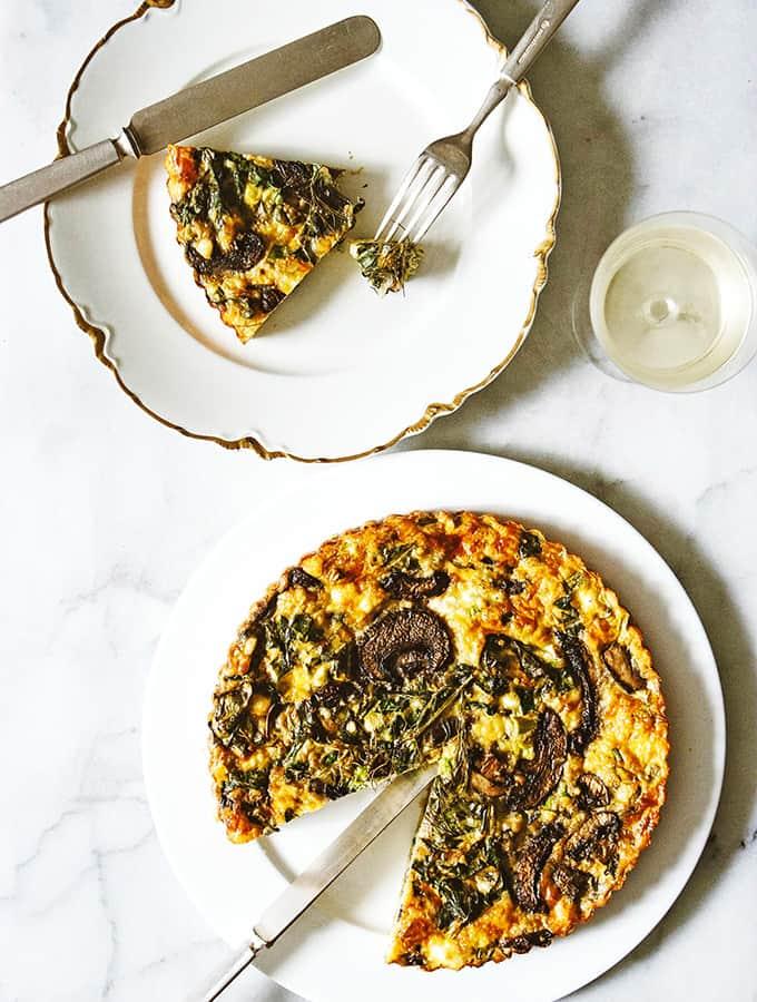 Chard & Mushroom Quiche-ish