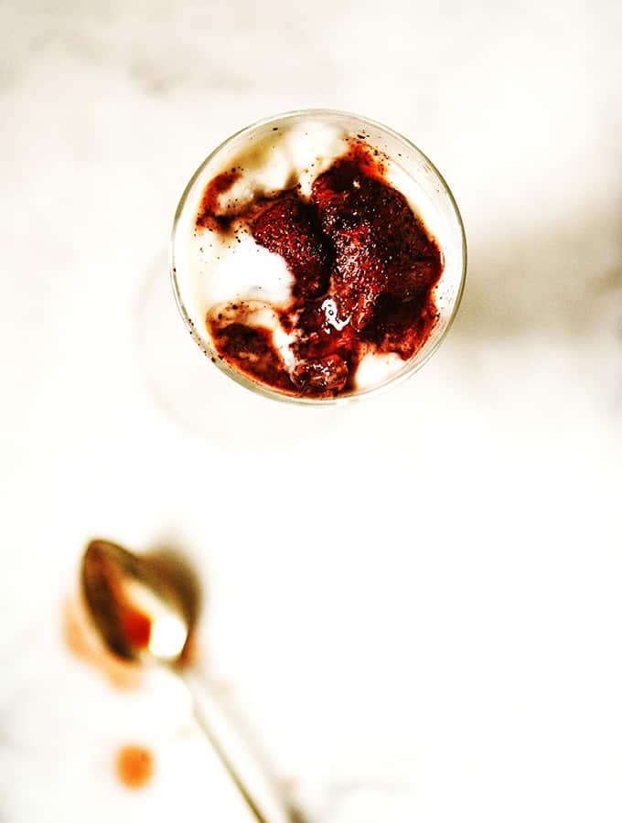 Roasted Strawberries Parfait | Bijouxs Little Jewels