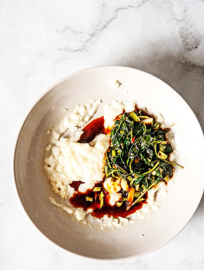 Water Spinach with Sweet Soy Glaze | Bijouxs Little Jewels