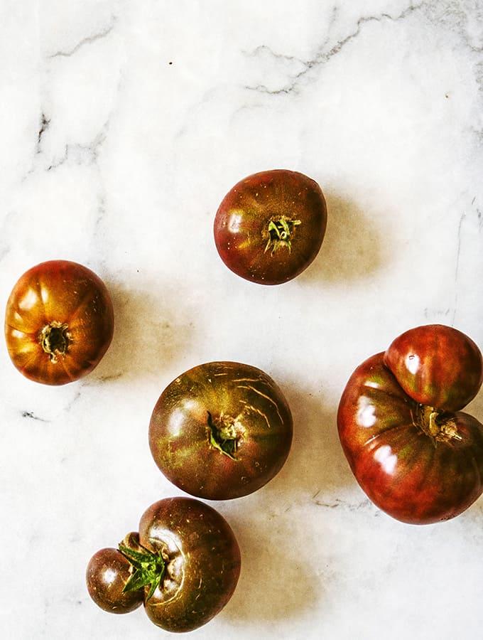 "Marinated Garden Tomatoes & ""Ricotta""   Bijouxs Little Jewels"