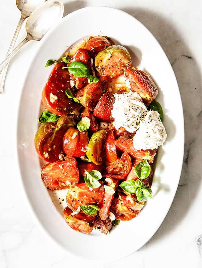 "Marinated Garden Tomatoes & ""Ricotta""| Bijouxs Little Jewels"