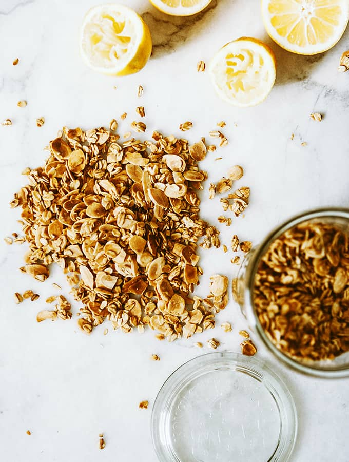 Meyer Lemon Granola with Lemon Yogurt & Blackberries| Bijouxs Little Jewels